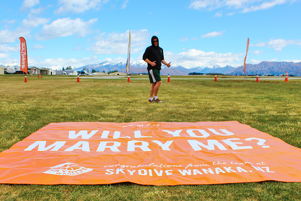 Skydive Wanaka Marry Me